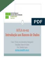 01 Introducao Aos Bancos de Dados