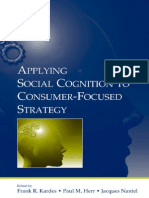 Kardes - Applying Social Cognition to Consumer Focused Strategy