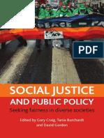 Social Justice and Public Policy- Seeking Fairness in Diverse Societies (Gordon D. - Craig G. - Burcgardt T., 2008)
