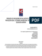 Propuesta Indicadores Evaluacion Proyeccion Social Universitaria