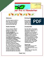 Prek Newsletter October 2009