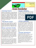 Fourth Grade Newsletter October 2009
