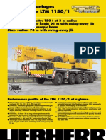 Product Advantages Mobile Crane LTM 1150/1