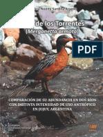 Pato de los Torrentes (Merganetta armata). COMPARACIÓN DE SU ABUNDANCIA EN DOS RÍOS CON DISTINTA INTENSIDAD DE USO ANTRÓPICO EN JUJUY, ARGENTINA