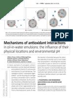 Mechanisms of Antioxidant Interactions Inform 2013