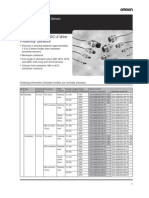 Omron Proximity Data Sheets