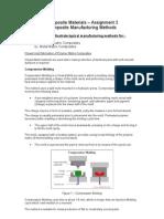 Composites - Composite Manufacturing Methods