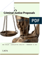 The 2014-15 Budget-Governor's Criminal Justice Proposals