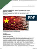 Brasil deveria aprender com a China o valor do sistema baseado no mérito - Educação - Notícia - VEJA