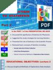 Intro to Statistics Part II
