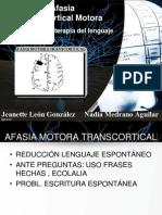 AFASIA TRANSCORTICAL MOTORA
