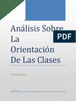 Análisis Sobre La Orientación De Las Clases.docx