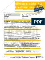 IH Brisbane Fees and Application Form 2014