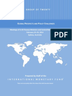 Sydney G-20 meeting - GLOBAL PROSPECTS AND POLICY CHALLENGES - IMF Report