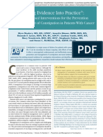 Putting Evidence Into Practice®- Evidence-Based Interventions for the Prevention and Management of Constipation in Patients With Cancer