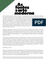 As Fontes Da Arte Moderna - Giulio Carlos Argan
