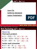 7 Factoring Ax2+Bx+c