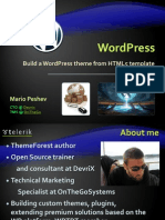 Wordpress Html5 Integrate Telerik