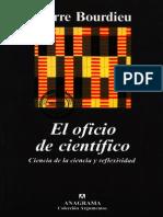 Bourdieu, P - El oficio de científico.