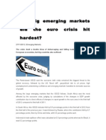 What Big Emerging Markets Did the Euro Crisis Hit Hardest
