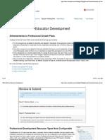 What's New in Educator Development