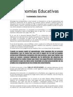 Taxonomías Educativas y evaluacion