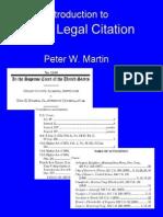 Basic Legal Citation 1