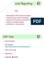SAP Financial Reporting