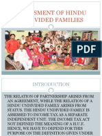 Assesment of Hindu Undivided Families
