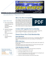 Dream Divers October 2009 Newsletter