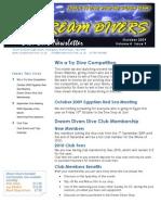 Dream Divers October 2009 Newsletter