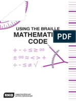 Using the Braille Maths Code 2007 Tc21086p