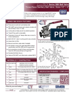 SVF SB9 Data Sheet   Valve   Specification (Technical Standard)
