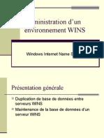 Administration d'un environnement WINS