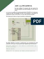 Conversor ADC Con PIC16F877A