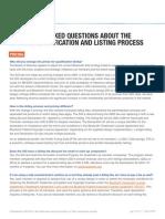 Bluetooth SIG Updated Listing Process FAQ