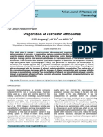 Preparation of Curcumin Ethosomes