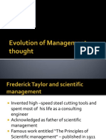 Evolution of Management Thought -Unit I B