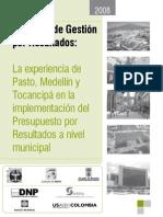 Experiencias en La Implementacion Del PpR en Al Ambito Municipal en Colombia