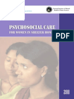 Psychosocial Care for Women in Shelter Homes