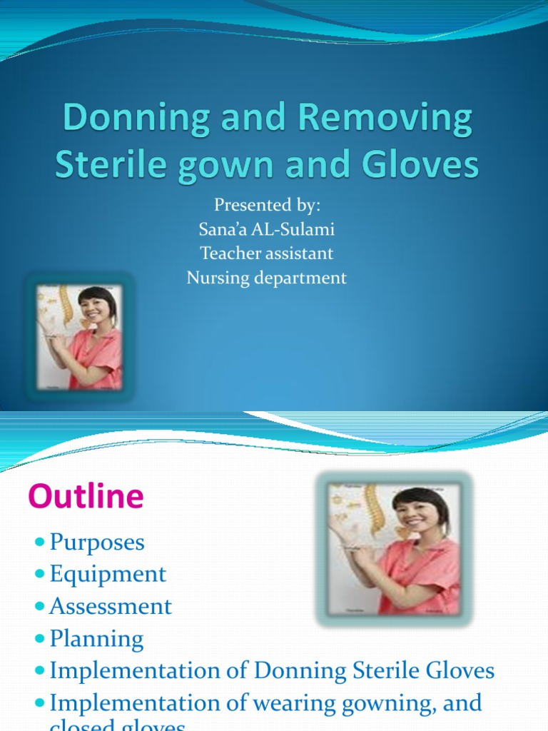 Donning and Removing Sterile Gloves   Glove   Hand