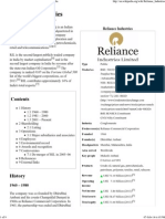 Reliance Industries - Wikipedia, The Free Encyclopedia
