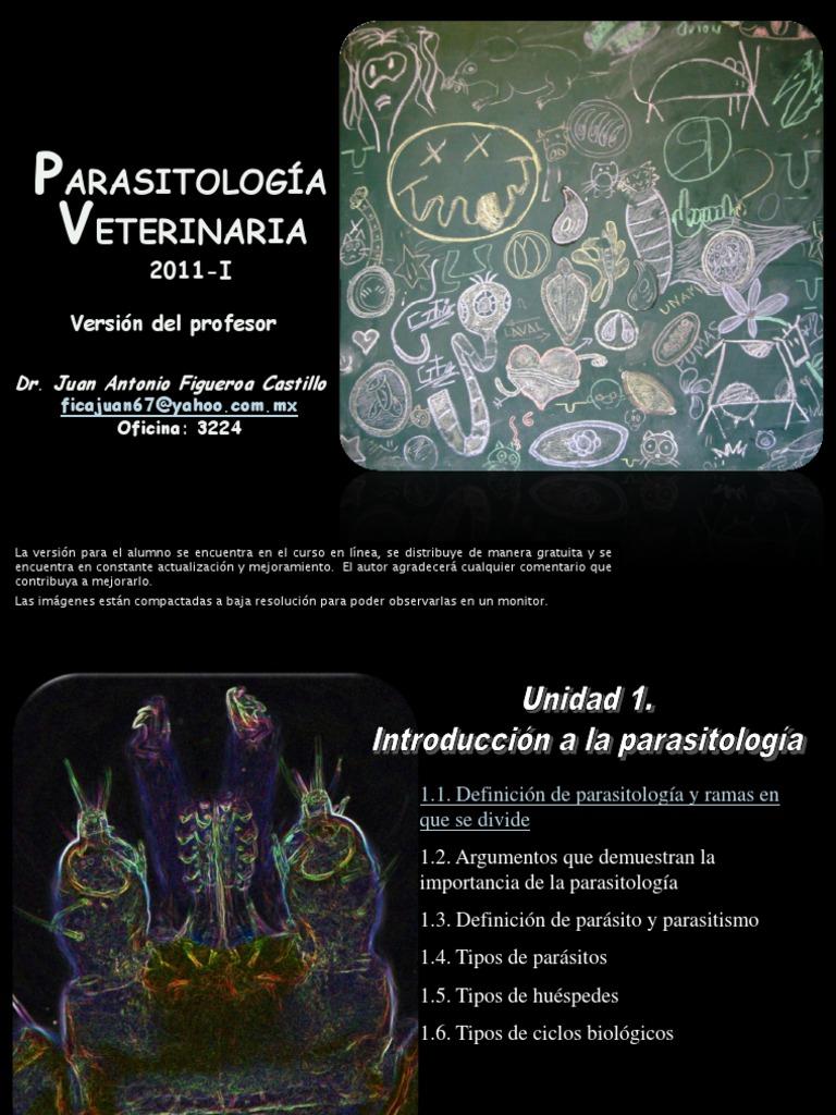 tipos de parasitos veterinaria pdf