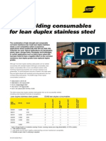 Welding Consumables for Lean Duplex Stainless Steel