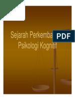 Slide Sejarah Perkembangan Psikologi Kognitif