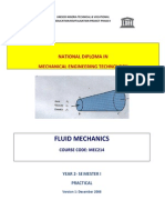 Mec 214 Fluid Mechanics Practicalx