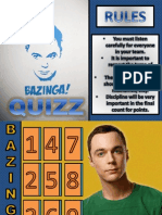 Bazzinga Test (Food & Drinks)