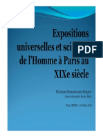 Expositions universelles et sciences de l'Homme à Paris au XIXe siècle