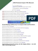 Acronis True Image 2014 Premium Coupon upto 20% Discount