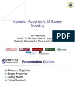 Research Repot on A123 Battery Modeling